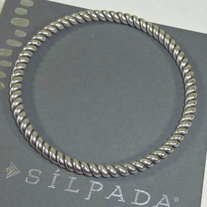 Silpada Sterling Silver Twisted Bangle Bracelet
